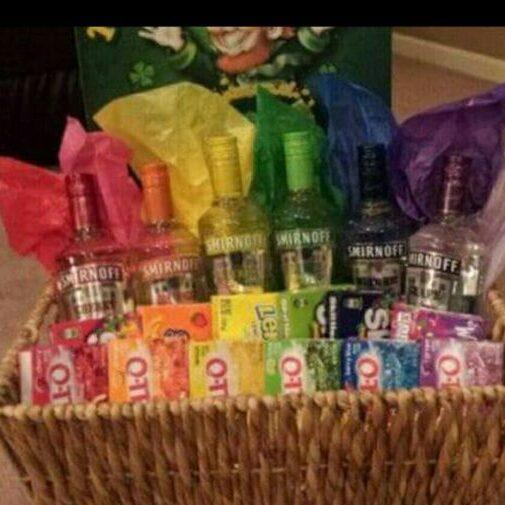 basket sample rainbow vodka