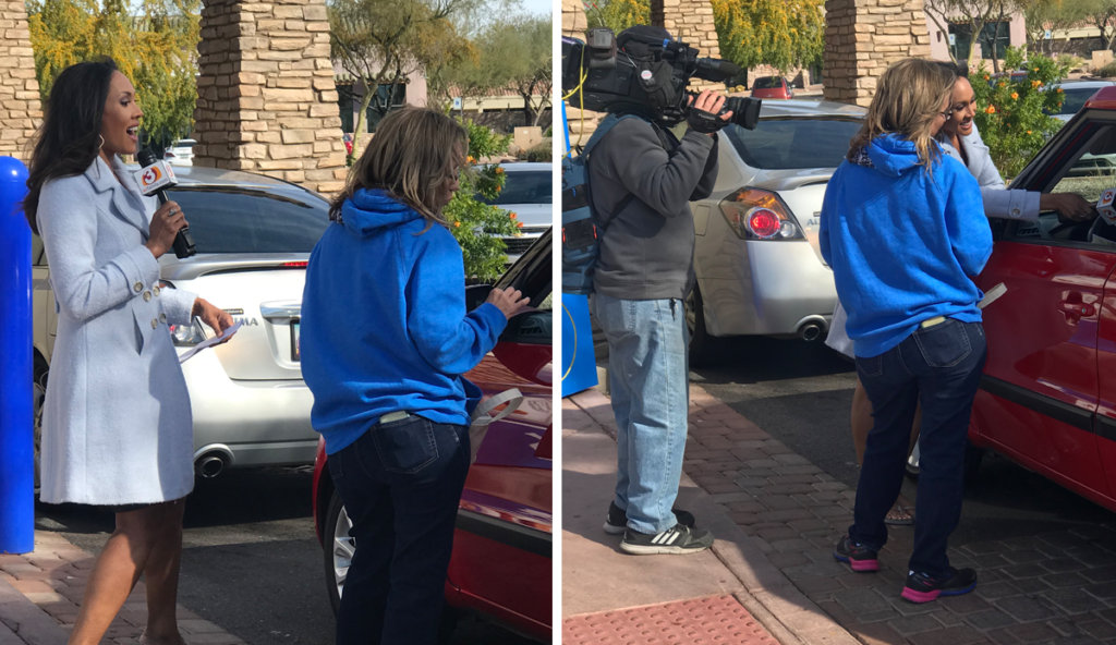 Local News Interview at Dutch Bros